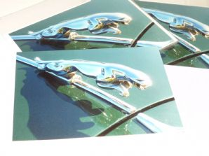 JAGUAR Leaping-Cat Badge . Greetings Card